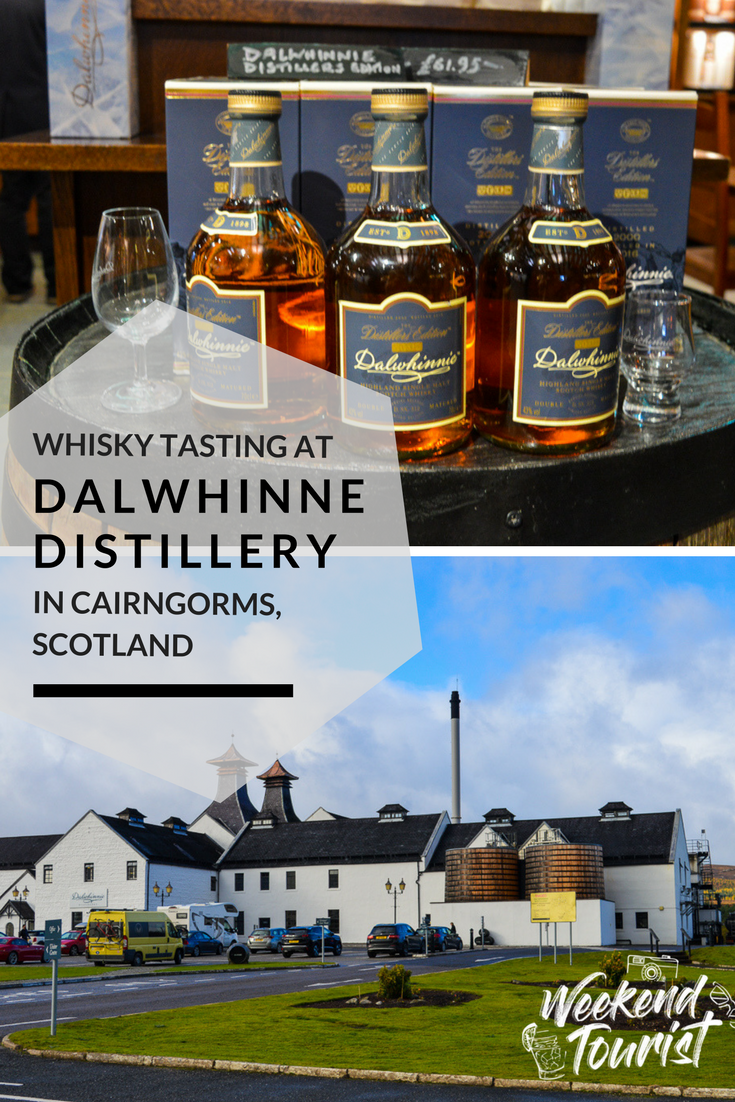 Whisky tasting at Dalwhinnie Distillery in Caringorms, Scotland