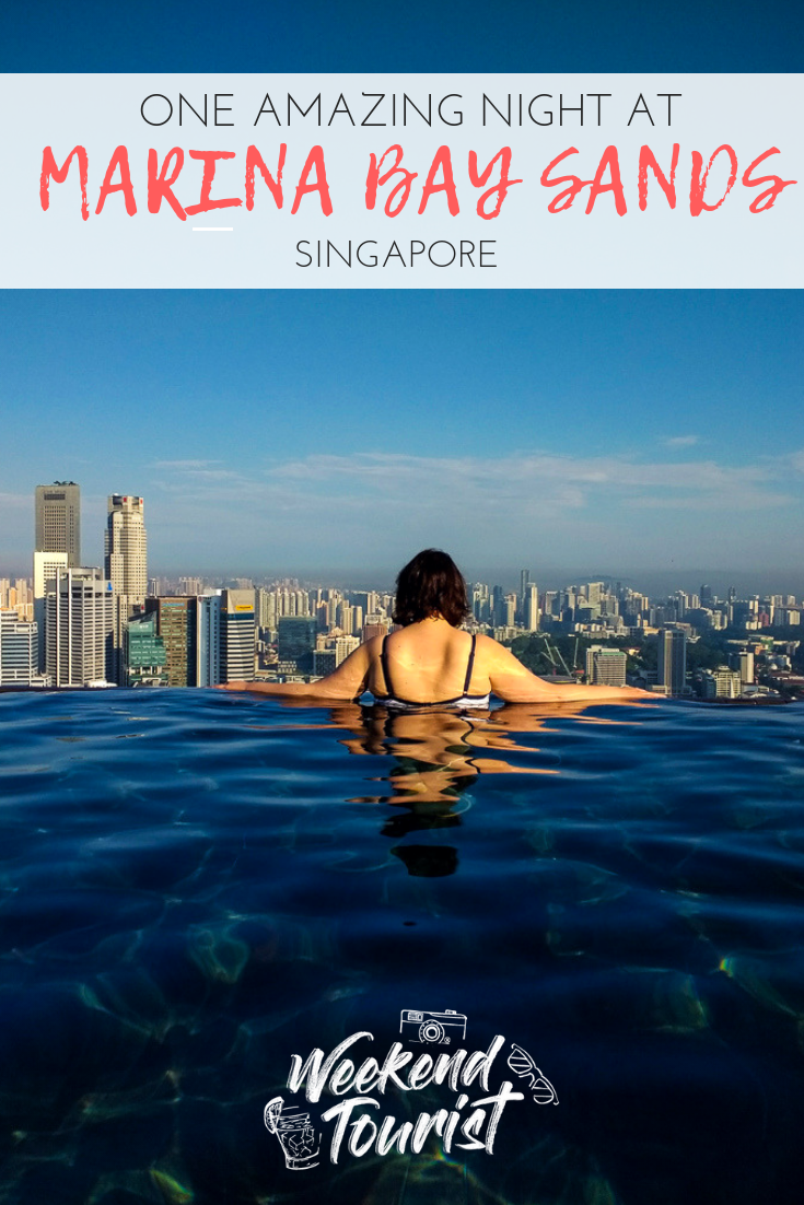 One amazing night at Marina Bay Sands Hotel in Singapore