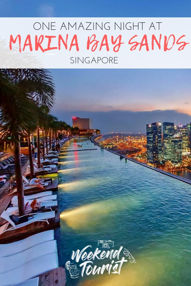 One amazing night at Marina Bay Sands Hotel in Singapore