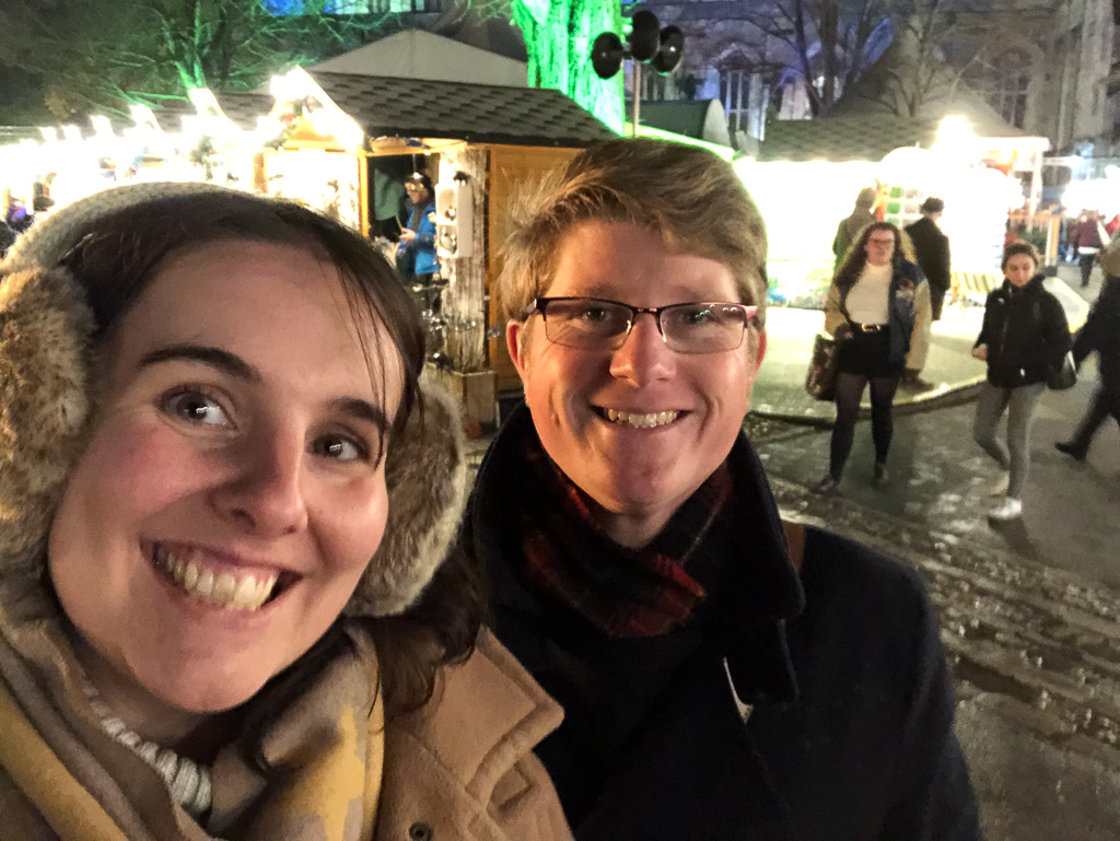 Me and Tom at Winchester Cathedral's Christmas Market