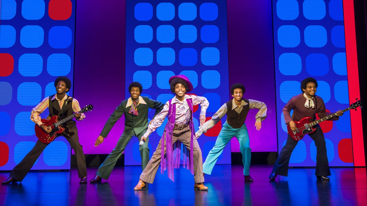 The Jacksons perform ABC during Motown the Musical