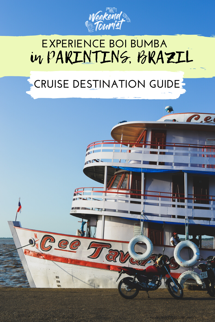 Parintins in Brazil hosts Brazil's next largest festival after Rio's carnival, known as the Boi Bumba, which we experience as part of a Viking Cruise.